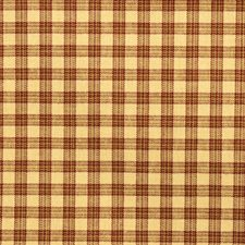 Claret Check Drapery and Upholstery Fabric by Trend