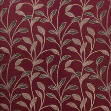 Claret Leaves Drapery and Upholstery Fabric by Trend