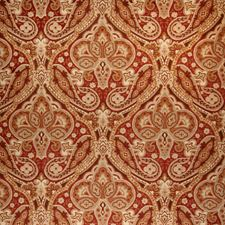 Brick Paisley Drapery and Upholstery Fabric by Trend