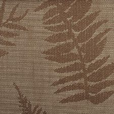 Chocolate Botanical Drapery and Upholstery Fabric by Duralee