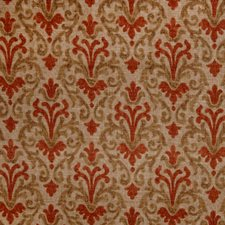 Terra Cotta Print Pattern Drapery and Upholstery Fabric by Trend