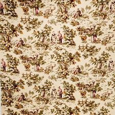 Cranberry Print Pattern Drapery and Upholstery Fabric by Trend