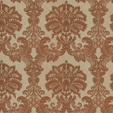 Paprika Damask Drapery and Upholstery Fabric by Trend