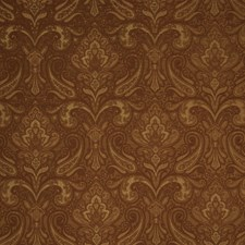 Persimmon Paisley Drapery and Upholstery Fabric by Trend