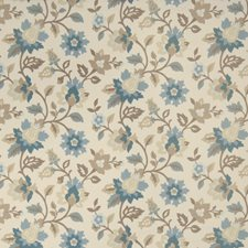 Spa Floral Drapery and Upholstery Fabric by Trend