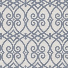Indigo Geometric Drapery and Upholstery Fabric by Trend