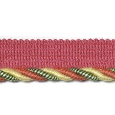 Cord Raspberry/Green Trim by Duralee
