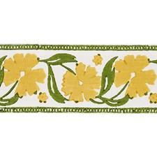 Yellow/Green Trim by Schumacher
