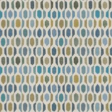 Cerulean Geometric Drapery and Upholstery Fabric by Fabricut
