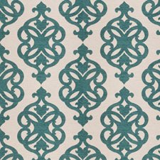 Peacock Jacquard Pattern Drapery and Upholstery Fabric by Fabricut