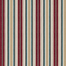Crimson Stripes Drapery and Upholstery Fabric by Fabricut