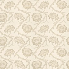 Bisque Floral Drapery and Upholstery Fabric by Fabricut
