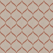 Rust Embroidery Drapery and Upholstery Fabric by Trend