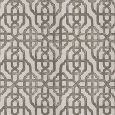 Taupe Geometric Drapery and Upholstery Fabric by Trend