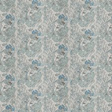 Sky Floral Drapery and Upholstery Fabric by Trend