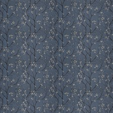 Bluedream Leaves Drapery and Upholstery Fabric by Stroheim