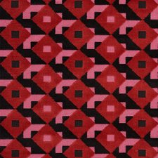 Pink/Black Drapery and Upholstery Fabric by Schumacher