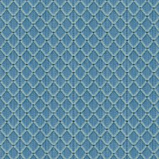French Blue Diamond Drapery and Upholstery Fabric by Brunschwig & Fils