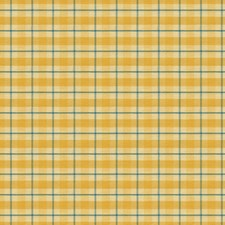 Sun/Sky Plaid Drapery and Upholstery Fabric by Brunschwig & Fils