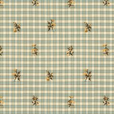 Aqua Botanical Drapery and Upholstery Fabric by Brunschwig & Fils