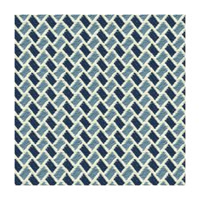 Sky/Indigo Geometric Drapery and Upholstery Fabric by Brunschwig & Fils