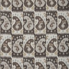 Ebony/Bark Ethnic Drapery and Upholstery Fabric by Brunschwig & Fils