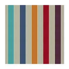 Red/Jwl Stripes Drapery and Upholstery Fabric by Brunschwig & Fils