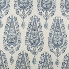 Indigo Paisley Drapery and Upholstery Fabric by Brunschwig & Fils