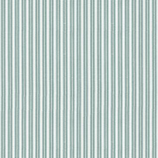 Teal Stripes Drapery and Upholstery Fabric by Brunschwig & Fils