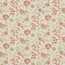 Rose Botanical Drapery and Upholstery Fabric by Brunschwig & Fils