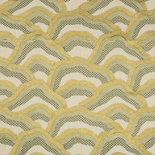 Citron Bargellos Drapery and Upholstery Fabric by Brunschwig & Fils