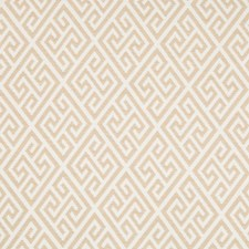 Sand Geometric Drapery and Upholstery Fabric by Brunschwig & Fils