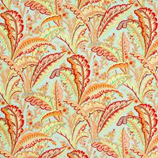 Lagoon Botanical Drapery and Upholstery Fabric by Brunschwig & Fils
