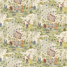 Ivory Botanical Drapery and Upholstery Fabric by Brunschwig & Fils