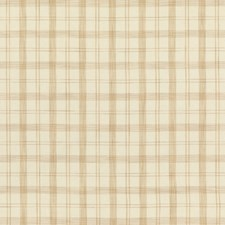 Beige Plaid Drapery and Upholstery Fabric by Brunschwig & Fils