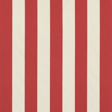 Red Stripes Drapery and Upholstery Fabric by Brunschwig & Fils