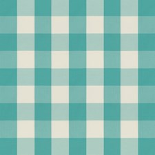 Turquoise Plaid Drapery and Upholstery Fabric by Brunschwig & Fils