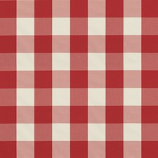Red Plaid Drapery and Upholstery Fabric by Brunschwig & Fils