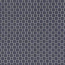 Denim Geometric Drapery and Upholstery Fabric by Brunschwig & Fils