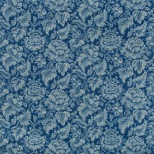 Blue Damask Drapery and Upholstery Fabric by Brunschwig & Fils