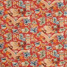 Claret Asian Drapery and Upholstery Fabric by Brunschwig & Fils
