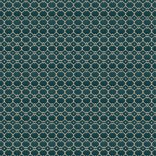 Peacock Geometric Drapery and Upholstery Fabric by Stroheim