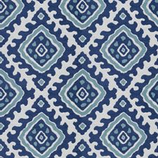 Blue Global Drapery and Upholstery Fabric by Stroheim