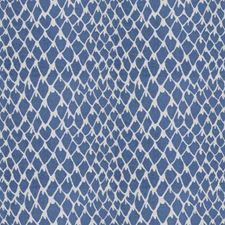Cobalt Animal Drapery and Upholstery Fabric by Stroheim