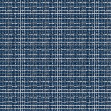 Cobalt Check Drapery and Upholstery Fabric by Stroheim