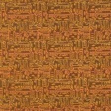 Pumpkin Geometric Drapery and Upholstery Fabric by S. Harris