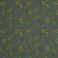 Aquatic Floral Drapery and Upholstery Fabric by S. Harris