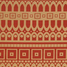 Cardinal Geometric Drapery and Upholstery Fabric by S. Harris