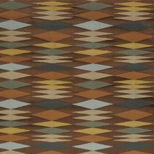 Praline Geometric Drapery and Upholstery Fabric by S. Harris