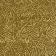 Gold Jacquard Pattern Drapery and Upholstery Fabric by S. Harris